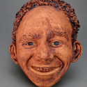 Child, Non-European ancestry, Dreamwork, Healing from shame, ceramic relief, head and face sculpture, wall hung, indoor, outdoor