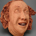 European, Dreamwork, Healing from shame, ceramic relief, head and face sculpture, wall hung, indoor, outdoor