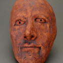 Dream work, Healing from shame, ceramic relief, head and face sculpture, wall hung, indoor, outdoor