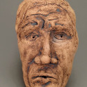 Child sexual abuse, Dreamwork, Healing from shame, ceramic relief, head and face sculpture, wall hung, indoor, outdoor