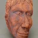 Non European, Depression, Dreamwork, Healing from shame, ceramic relief, head and face sculpture, wall hung, indoor, outdoor