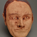 Woman, Poverty, Dreamwork, Healing from shame, ceramic relief, head and face sculpture, wall hung, indoor, outdoor