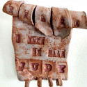 Dreamwork, Perfectionism, Healing from shame, ceramic relief, head and face sculpture, wall hung, indoor, outdoor