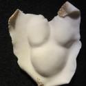 Porcelain, medium fire, wall sculpture, glaze, pregnancy