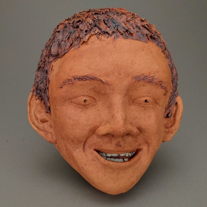 Child, Abandonment, Dreamwork, Healing from shame, ceramic relief, head and face sculpture, wall hung, indoor, outdoor