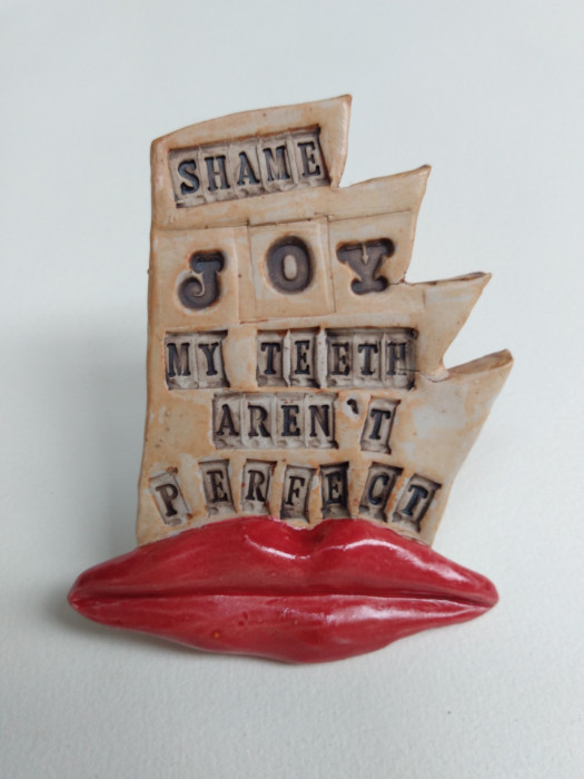 jDreamwork, Perfectionism, Healing from shame, ceramic relief, head and face sculpture, wall hung, indoor, outdoor