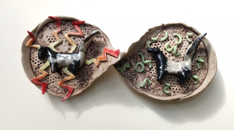 Self hatred / Self-forgiveness, Dreamwork, Healing from shame, ceramic relief sculpture, wall hung, indoor, outdoor